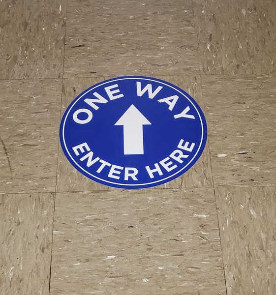 One Way Floor Decal